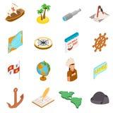 Gelukkige Columbus Day-pictogrammen Stock Foto's