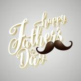 Gelukkige 3d de Typografieachtergrond van de Vader` s Dag Stock Foto's