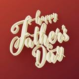 Gelukkige 3d de Typografieachtergrond van de Vader` s Dag Royalty-vrije Stock Fotografie