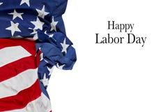 Gelukkige Dag van de Arbeid De vlag van de V Amerikaanse vakantie Royalty-vrije Stock Fotografie