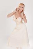 Gelukkige Dansende Vrouw stock foto's