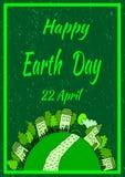 Gelukkige de banneraffiche van de Aardedag Stock Afbeelding