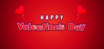 Gelukkige de Bannervector van de Valentijnskaartendag stock foto
