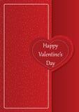 Gelukkige de dag romantische kaart van Valentine ` s Stock Afbeeldingen