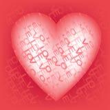 Gelukkige de dag roze achtergrond van Valentine ` s Vector illustratie Royalty-vrije Stock Afbeelding