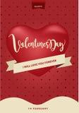 Gelukkige de Dagachtergrond van Valentine ` s, Vectorillustratieontwerp Stock Fotografie