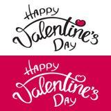 Gelukkige de Daginschrijving van Valentine ` s vector illustratie