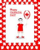 Gelukkige de Dagkaart van Canada Stock Afbeeldingen