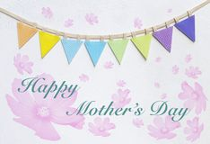 Gelukkige de dagkaart van de Moeder `s stock afbeelding