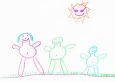 Gelukkige de familieillustratie van het kind Royalty-vrije Stock Afbeelding
