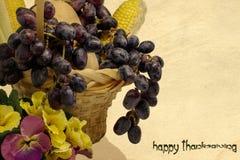 Gelukkige de groetkaart van de Dankzegging Stock Foto