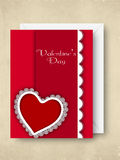 Gelukkige de groetkaart van de Dag van Valentijnskaarten, giftkaart of achtergrond. Royalty-vrije Stock Foto's