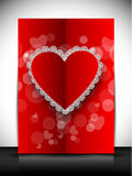 Gelukkige de groetkaart van de Dag van Valentijnskaarten, giftkaart of achtergrond. EPS Stock Foto's