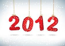 Gelukkige de groetkaart van het Nieuwjaar 2012 Stock Afbeeldingen