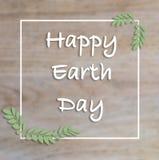 Gelukkige de hand van letters voorziende kaart van de Aardedag, achtergrond vector illustratie
