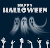 Gelukkige de Handen en de Spokenaffichevector van Halloween vector illustratie