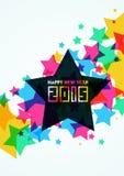 Gelukkige de Kaart vectorillustratie van de Nieuwjaar 2015 Groet Stock Afbeelding