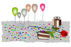 Gelukkige de Kaart Vectorillustratie van de Verjaardagsgroet EPS10 Stock Foto