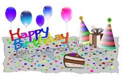 Gelukkige de Kaart Vectorillustratie van de Verjaardagsgroet EPS10 Royalty-vrije Stock Fotografie