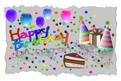 Gelukkige de Kaart Vectorillustratie van de Verjaardagsgroet EPS10 Stock Afbeelding