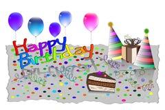 Gelukkige de Kaart Vectorillustratie van de Verjaardagsgroet EPS10 Royalty-vrije Stock Afbeeldingen