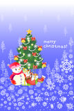 Gelukkige de kaartachtergrond van de Kerstmisgroet - Creatieve illustratie eps10 Stock Foto