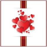 Gelukkige de kaartillustratie van de Valentijnskaartendag Stock Foto