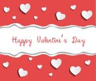 Gelukkige de kaartvector van de Valentijnskaartendag Royalty-vrije Stock Foto