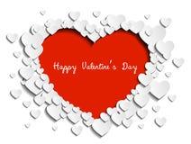 Gelukkige de kaartvector van de Valentijnskaartendag Stock Afbeelding