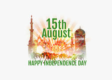 Gelukkige de Onafhankelijkheidsdag van India Royalty-vrije Stock Fotografie