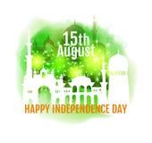 Gelukkige de Onafhankelijkheidsdag van India Stock Foto's