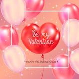 Gelukkige de typografieaffiche van de Valentijnskaartendag met met de hand geschreven kalligrafieteksten vector illustratie