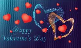 Gelukkige de Valentijnskaartendag van de groetkaart met harten Vector illustratie vector illustratie