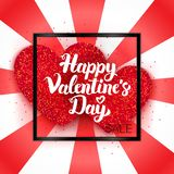 Gelukkige de Verkoopkaart van de Valentijnskaartendag Stock Foto
