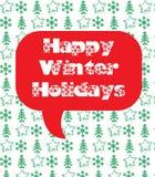 Gelukkige de wintervakantie Stock Fotografie