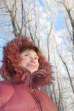 Gelukkige de wintervrouw Royalty-vrije Stock Foto