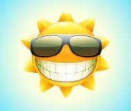 Gelukkige de zomerzon Stock Foto's