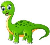 Gelukkige die brontosaurus op witte achtergrond wordt geïsoleerd vector illustratie
