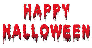 Gelukkige die Halloween-Woorden - in Bloed worden geschreven Stock Afbeelding