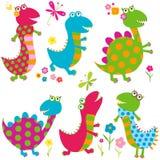 Gelukkige dinosaurussen Stock Foto's