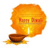 Gelukkige Diwali-achtergrond coloful waterverfdiya vector illustratie
