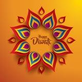 Gelukkige Diwali Document Grafisch van Indische Rangoli royalty-vrije illustratie