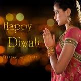 Gelukkige Diwali, festival van lichten Royalty-vrije Stock Foto's