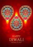 Gelukkige Diwali-festivalkaart Stock Foto