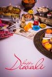 Gelukkige Diwali-Groetkaart Stock Foto