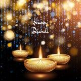 Gelukkige Diwali-illustratie van het branden diya De achtergrond van de vakantie Eps 10 vector illustratie