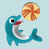 Gelukkige dolfijn Royalty-vrije Illustratie