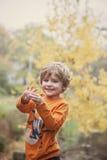 Gelukkige drie éénjarigenjongen Royalty-vrije Stock Foto's