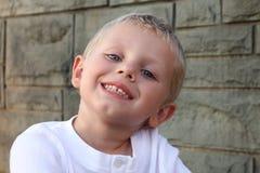 Gelukkige drie jaar oude jongens Royalty-vrije Stock Foto's