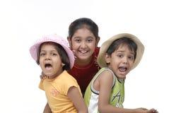 Gelukkige drie kinderen Royalty-vrije Stock Foto